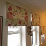 Roman blinds using customers own fabric, Gosforth