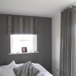 Eyelet curtains & Roman blind using Casadeco fabric, Gosforth