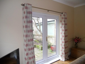 Eyelet curtains using customers own fabric, Wylam