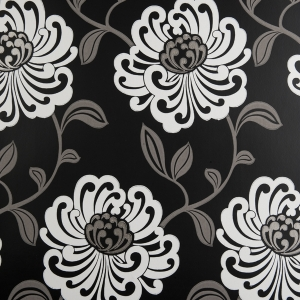 Clarke & Clarke Fiori wallpaper Ebony