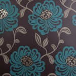 Clarke & Clarke Fiori wallpaper Teal