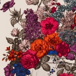 Clarke & Clarke Floribunda wallpaper Sunset