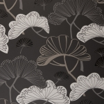 Clarke & Clarke Kami wallpaper Charcoal