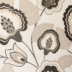 Clarke & Clarke Orissa wallpaper Charcoal