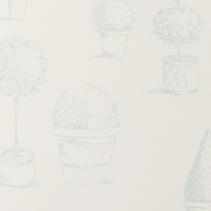 Clarke & Clarke Topiary wallpaper Duck Egg