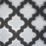 Clarke & Clarke Kasbah wallpaper Black/White