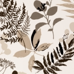 Clarke & Clarke Woodland wallpaper Charcoal